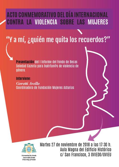 Acto Conmemorativo del Día Internacional contra la Violencia sobre las mujeres