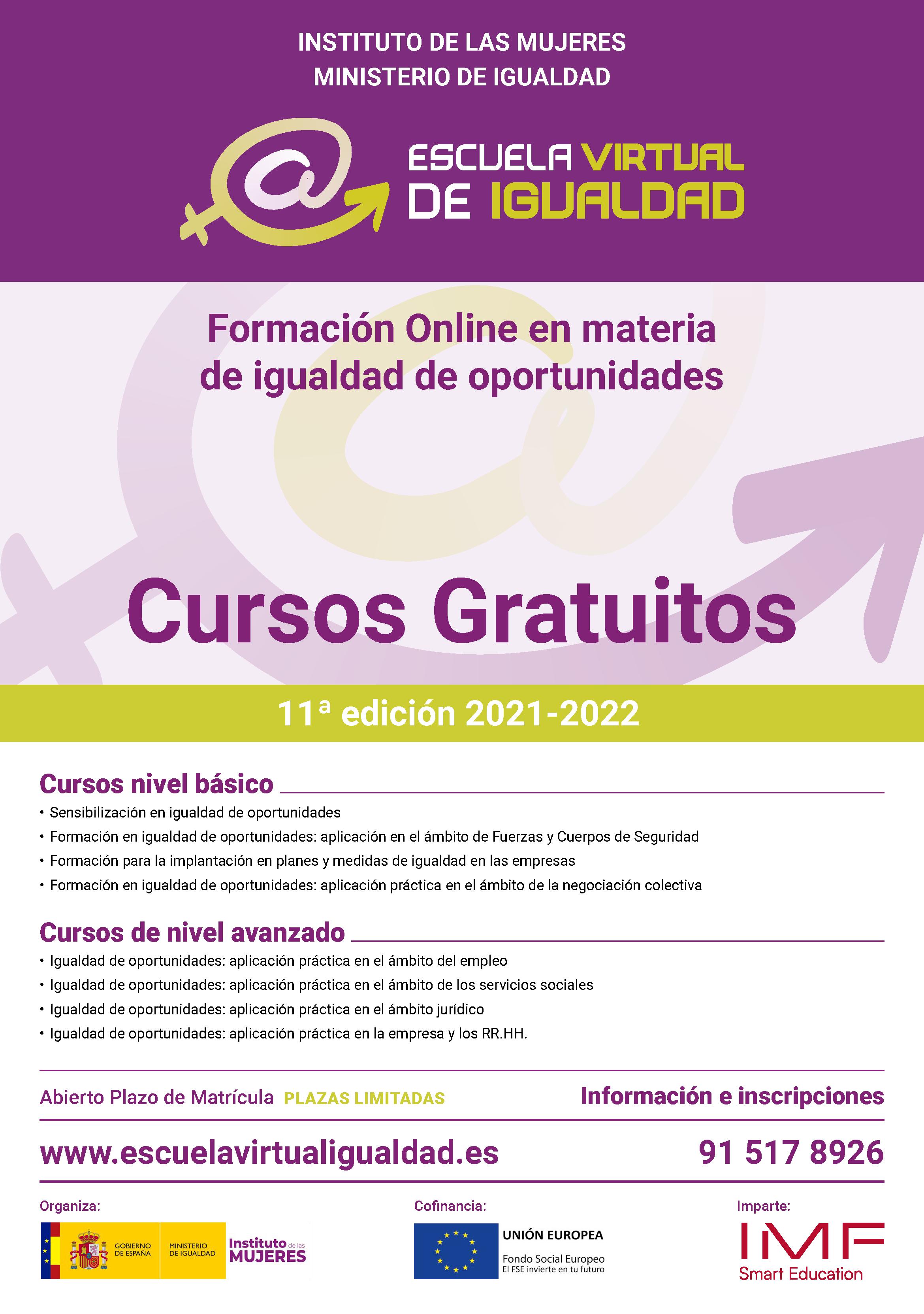 Cartel Escuela de Igualdad 2021 Online